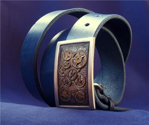 Steampunkový pásek, zdroj: Fler - výrobce Dílna Končiny