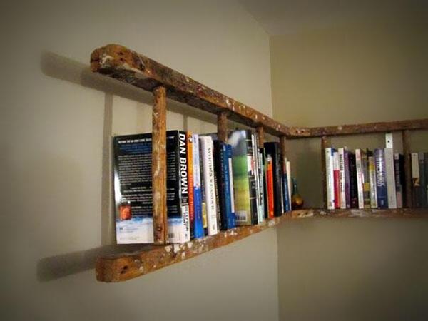 Knihovna z žebříku